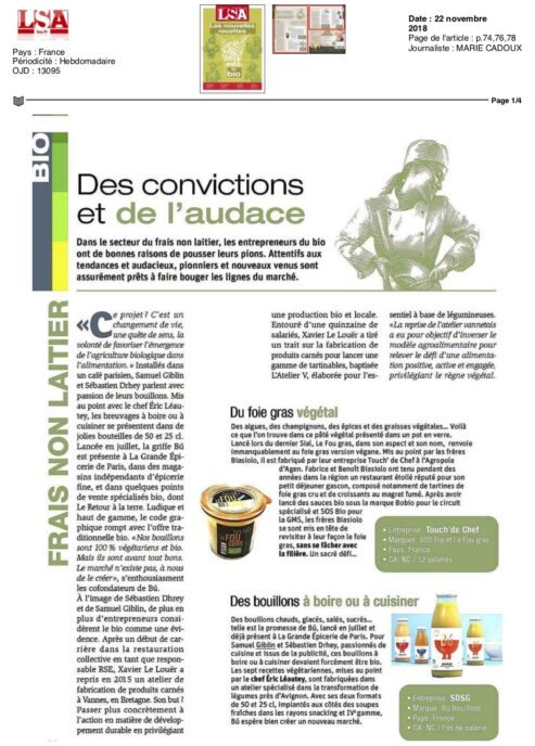 LSA bu bouillon bio vegetarien naturel